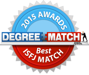 DegreeMatch.org - 2015 Awards - Best ISFJ Match